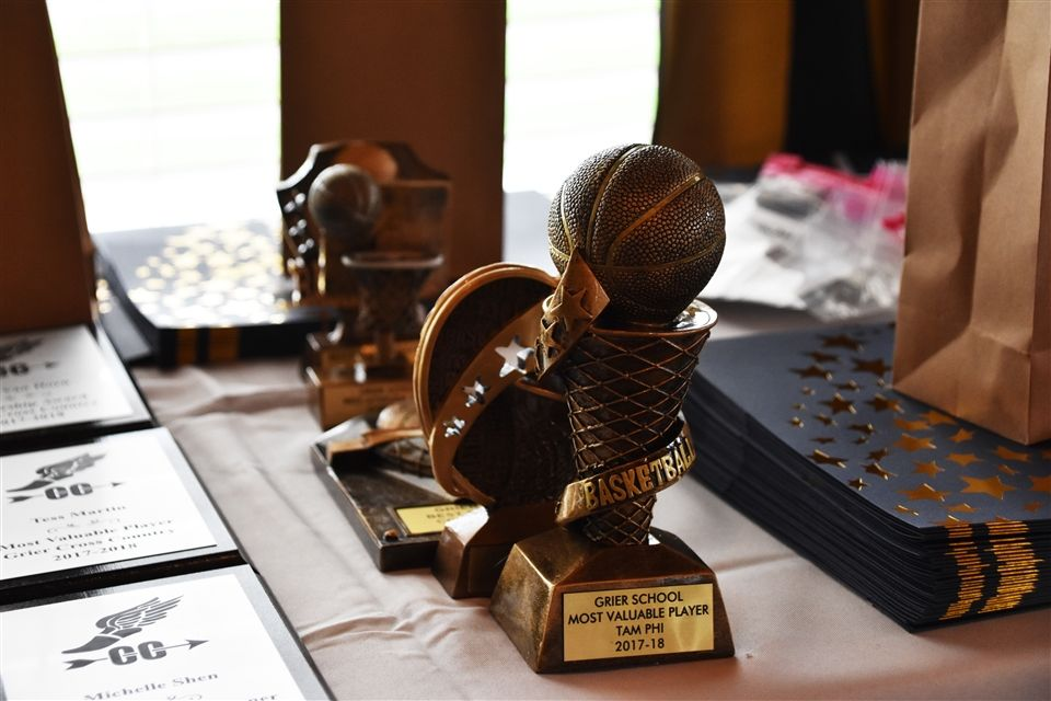 Trophies and certificates for the athletes.
