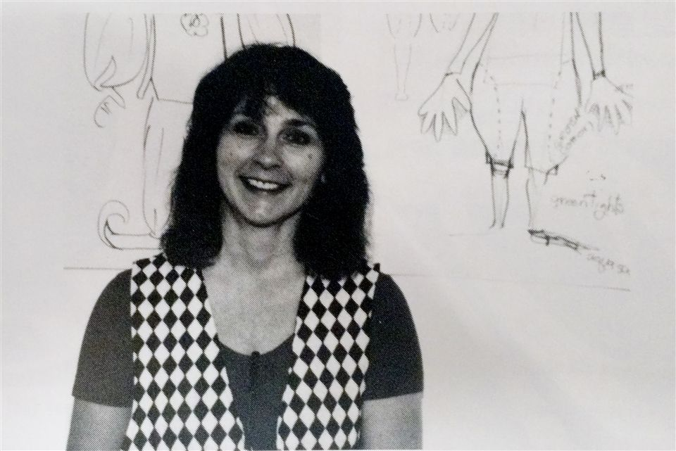 Mrs. Cave in her early years at Grier, circa 1995.