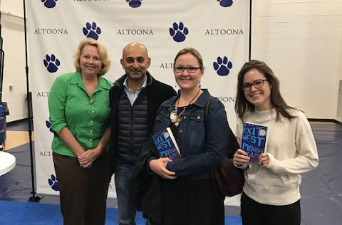 Mrs. Davis, Mohsin Hamid, Ms. Barr, and Mrs. Thibodeau.