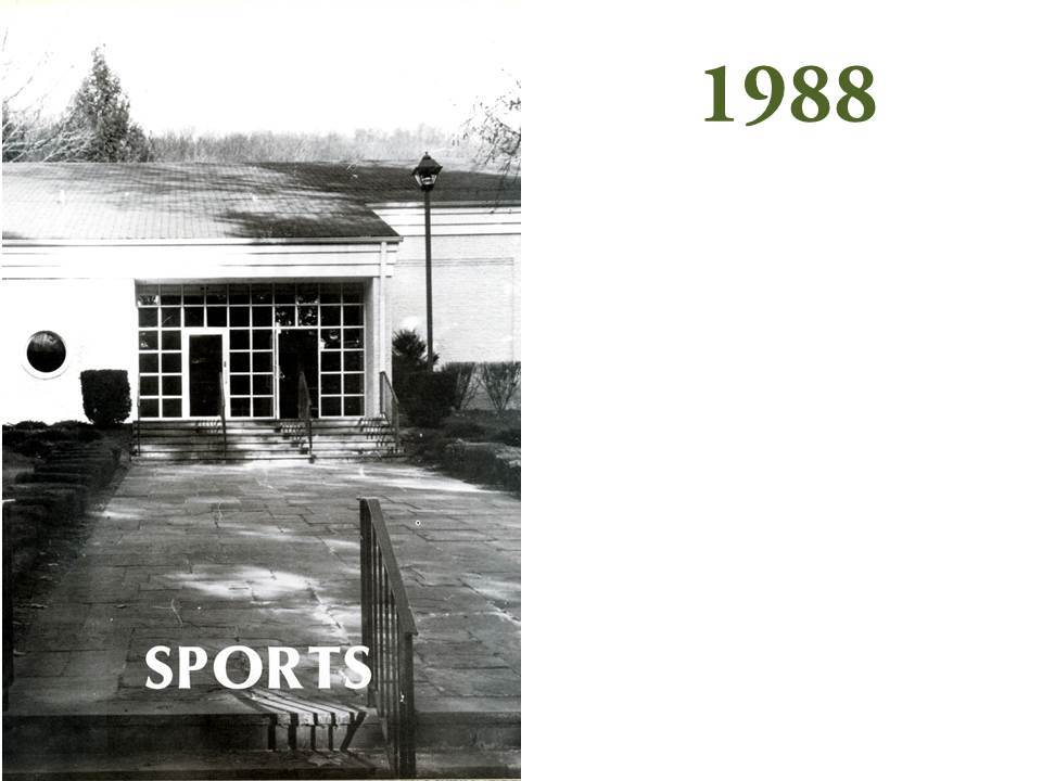 Meanwhile, as Shiboon and Aristotle were becoming entrenched as icons of Grier Athletics, Grier was developing its sports facilities, notably with a new gymnasium building in the early 1980s.