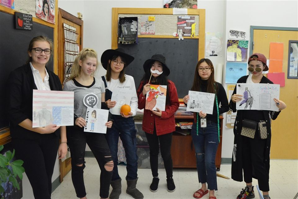 Following Chaucer's model, juniors in Ms. Barr's British Lit class imagined modern-day characters on a pilgrimage to Hollywood.