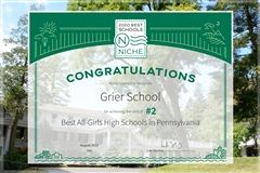 Grier School Ranked Among Best Schools!