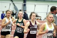Edie competes in last meet of the indoor season.
