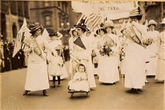 A suffrage parade in New York City, May 4, 1912. Library of Congress