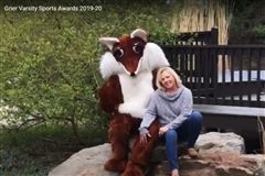 Grier's Athletic Director Cherie Gates with Grier Mascot Foxy Present the 2020 Varsity Sports Awards!  Scroll through photos to see team portraits and memorable moments from the spring season.