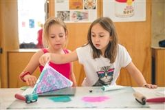 During Grier Summer's Art Porgram, campers explore a variety of mediums and techniques, some of which they may not have encountered in traditional art classrooms.