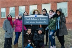 Grier students at the NASA Swift Mission HQ on Penn State's Main Campus.