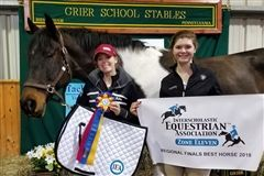 Riders Lauren and Lindsay with Chloe, who was Best Horse Over Fences this weekend at Regionals!