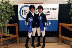 Eighth-grader Grace W. was 1st in Future Beginner Dressage Seat Equitation and Junior Sophie K. was 4th in Intermediate Dressage and 1st in Intermediate Dressage Seat Equitation.