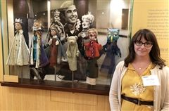 Admissions Director Mrs. Neely at the Fred Rogers Center.