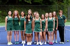 Members of Grier's Varsity Tennis Team include: Kristen, Maggie, Maria, Ana, Samantha, Yasmine, Chaewon, Rachel, Cindy, Sherry, Vivian, and Ealing. Coached by Head Coach Mrs. Kelly Forest and Assistant Coach Ms. Kitty Moyer.