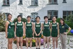 2018 Grier Cross Country team includes: Michelle S, Mila X, Harper Z, Ivy Z, Yvonne D, and Lily L.  Coached by Ms. Taylor Leen.