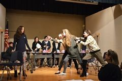 Grier actors have been preparing for this year's Fall Play: 12 Angry Women. The play is an adaptation of the 1957 courtroom drama 12 Angry Men by Reginald Rose. Grier is presenting this play on Thursday, November 15th at 7:00pm and on Friday, November 16th at 1:00pm in the Auditorium. Come see for yourself exactly what these jurors are so angry about!