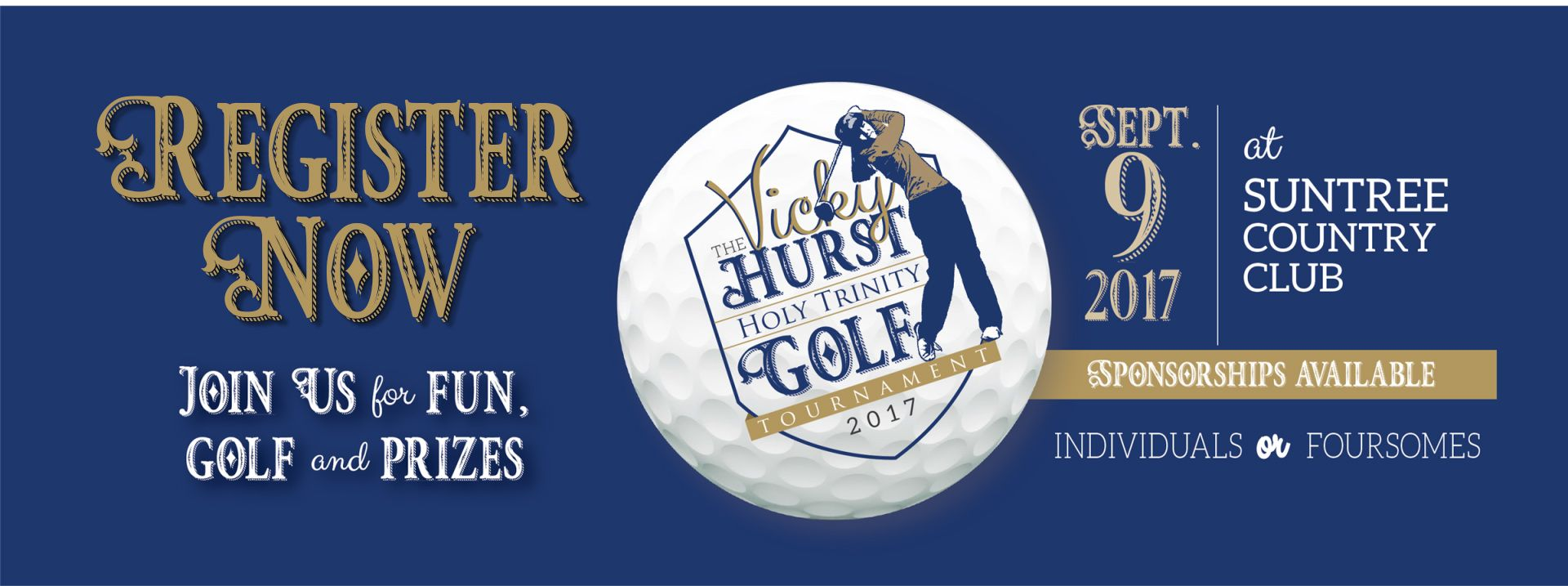 Register for Vicky Hurst Holy Trinity Golf Tournament