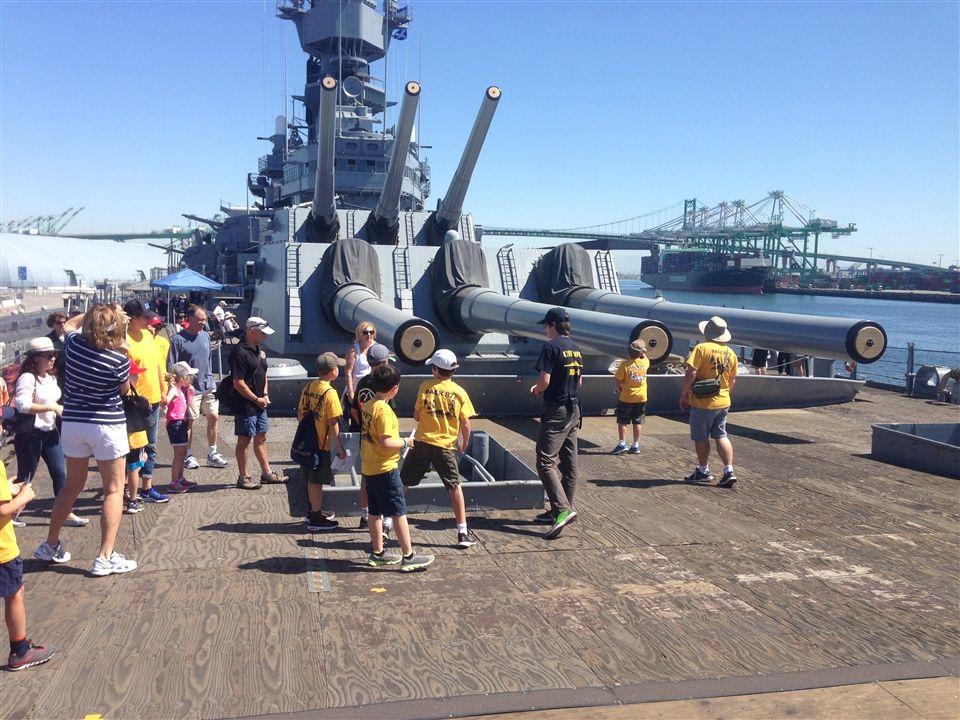 Pack 872 Tours the USS Iowa | St  Anne School