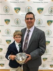 Georges Saab '85, 2018 Distinguished Alumni Award with son, Alex