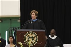 Ann Clark '76 addresses the Class of 2018