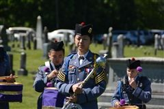 Cadet Liu leading the band.