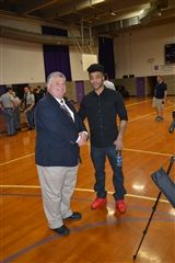 Head of School Dr. David Skipper with Frank Mason III