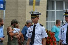 Cadet Zhao marches in the Edinburg Parade.