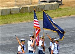 The Color Guard presented at the Shenandoah Fair Grounds.
