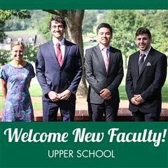New faculty in the Upper School, from left to right: Ms. Pam Weatherly, Mr. Chandler Brooks, Mr. Tommy