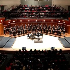 Rabun Gap students performed with a large choir at UGA Choral Day.