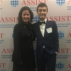 Ms. Lynda Ann Loring and Navid Mesrian '21 at the Assist celebration