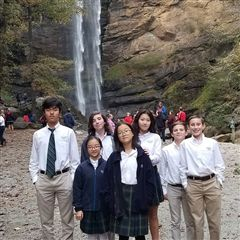 The Middle School Instrumental Ensemble performed at Toccoa Falls on November 2.