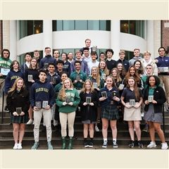Outstanding participants were awarded at the Fall Season Convocation.