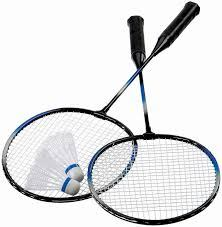 Badminton rackets and birdie