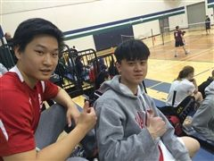 David Huang and Kyle Chen between games at OFSAA