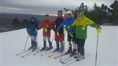 Ski Team at OFSAA in Collingwood