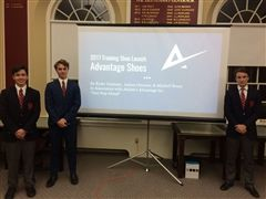Case study competition winners (l-r) Mitchell Bruce, Ryder Germain, Joshua Osborne