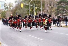 St. Andrew's College Pipes & Drums and members of the Cadet Corps