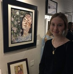 Annie Mildrew '19 won the award for Best of 2-D