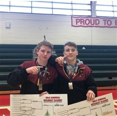 Jack Ambrey (left) and Finn Sofield (right) after winning St Stephens Holiday tourney titles