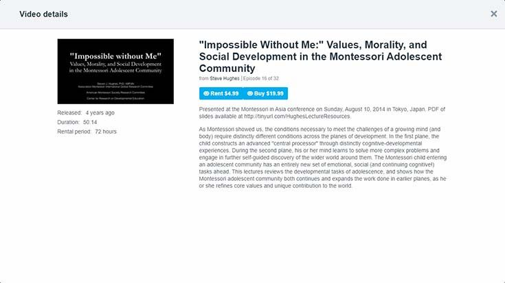 Impossible Without Me: Values, Morality, and Social Development in the Montessori Adolescent Community