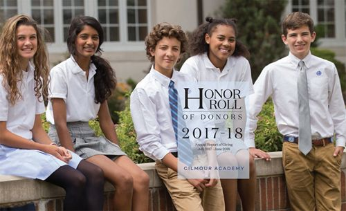 Cover of 2017-2018 Annual Report: Honor Roll of Donors