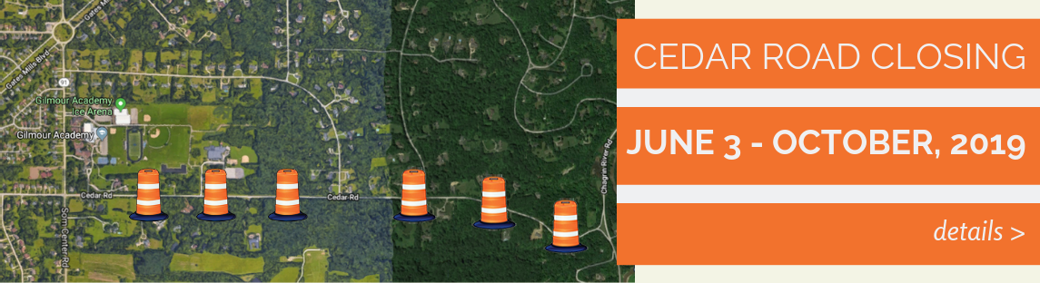 Cedar Road Closure June 3 - early October