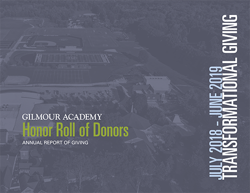 Cover of 2018-2019 Annual Report: Honor Roll of Donors