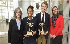 Gilmour Trophy Winners Arianna Mack and Sebastian Williams