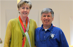 Head of School Mary Kenny with Joe Sepchinski