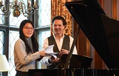 Michelle Wang and Master Pianist Andreas Haefliger