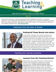 Teaching & Learning Newsletter - May 2019