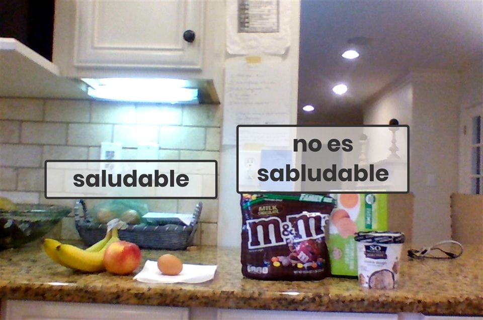 "Emma Fairey found an array of ""saludable y no saludable."""