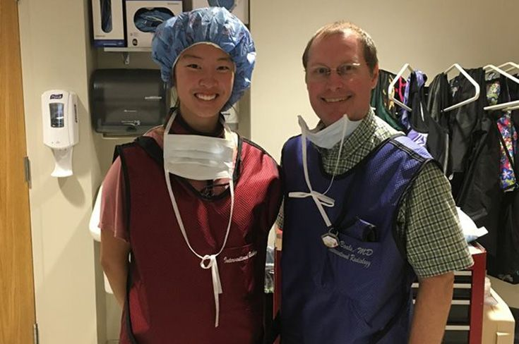 Michelle Lee '19 is pictured with Dr. Jim Boals.