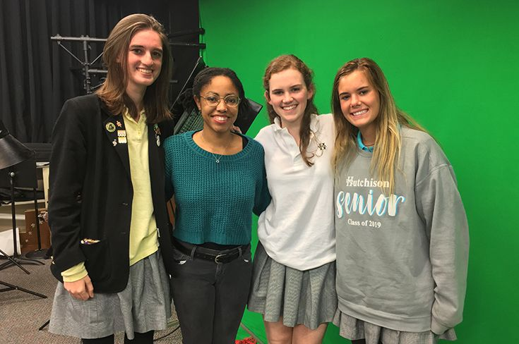 Caroline Couch '20, Amanda Layne Miller '14, Callie Oehmler '20, and Audrey Jones '19