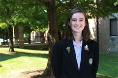 Caroline Couch '20 was elected Vice President of Girls Nation.