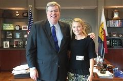 Hannah is pictured with Mayor Strickland, mayor of the city of Memphis.